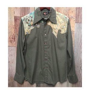Martini Ranch Western Rodeo Shirt M